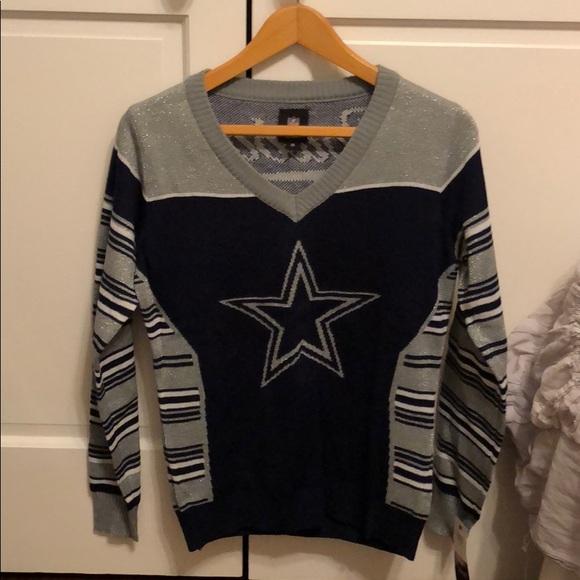 watch 108a2 db3f6 Dallas Cowboys Holiday sweater NWT